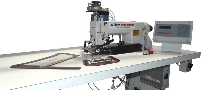 Profile Stitching System AMF Reece Simple Automatic Sewing Machine For Shirts